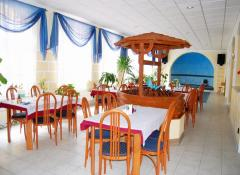 Restaurant-breakfast: served in buffet-form, lunch: the spa guests can choose between 2 menus (soup, main dish, dessert or fruit). Dinner is served in buffet-form (rich choice of warm and cold meals, international and czech cuisine specialities).
